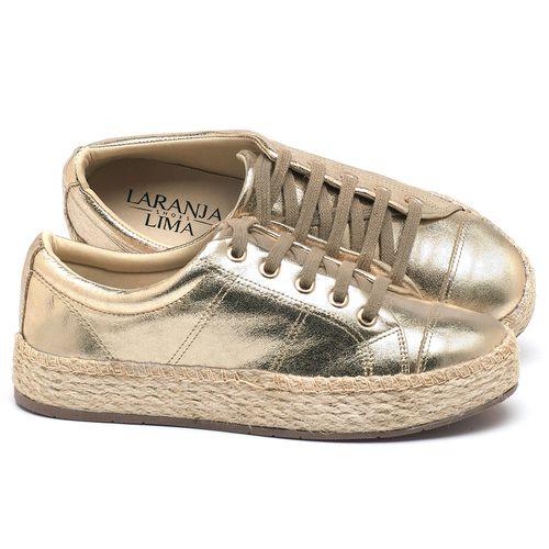 Laranja_Lima_Shoes_Sapatos_Femininos_Tenis_Cano_Baixo_em_Couro_Metalizado_-_Codigo_-_99091_1