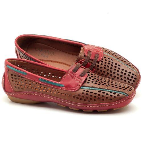 Laranja_Lima_Shoes_Sapatos_Femininos_Dockside_Laranja_Lima_Shoes_em_Couro_Vermelho_-_Codigo_-_136028_1