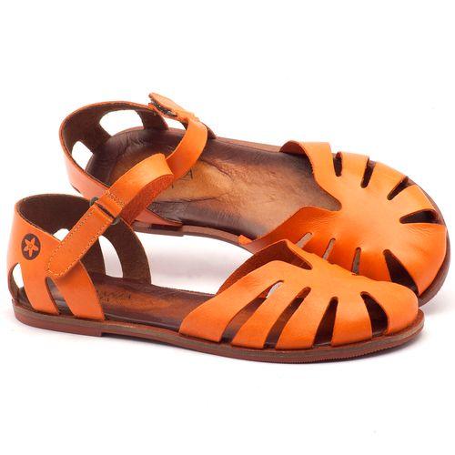 Laranja_Lima_Shoes_Sapatos_Femininos_Sandalia_Rasteira_Flat_em_Couro_Laranja_-_Codigo_-_136072_1