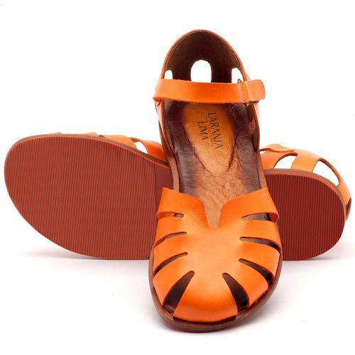 Laranja_Lima_Shoes_Sapatos_Femininos_Sandalia_Rasteira_Flat_em_Couro_Laranja_-_Codigo_-_136072_2