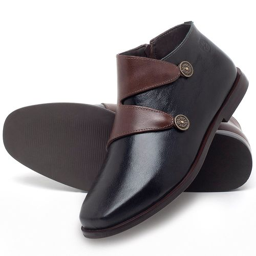 Laranja_Lima_Shoes_Sapatos_Femininos_Bota_Cano_Curto_em_Couro_Bicolor_-_Codigo_-_136087_2