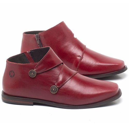 Laranja_Lima_Shoes_Sapatos_Femininos_Bota_Cano_Curto_em_Couro_Vermelho_-_Codigo_-_136087_1