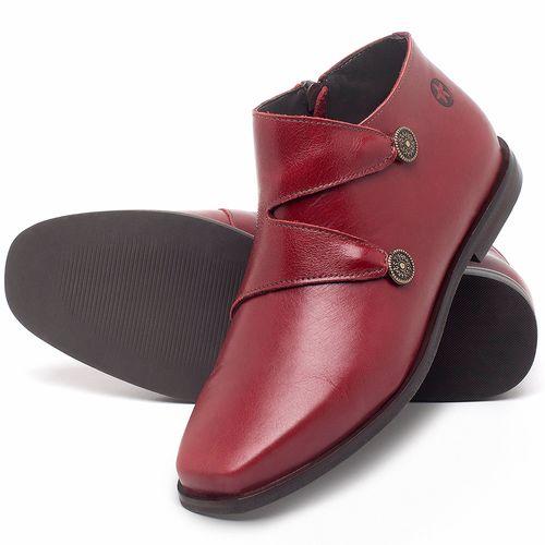 Laranja_Lima_Shoes_Sapatos_Femininos_Bota_Cano_Curto_em_Couro_Vermelho_-_Codigo_-_136087_2