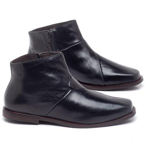 Laranja_Lima_Shoes_Sapatos_Femininos_Bota_Cano_Curto_em_Couro_Preto_-_Codigo_-_136093_1