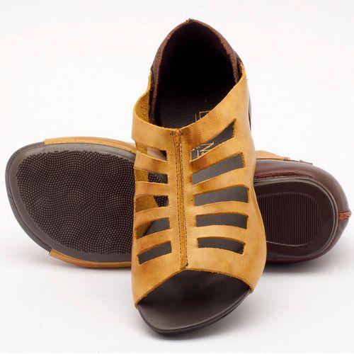 Laranja_Lima_Shoes_Sapatos_Femininos_Sandalia_Rasteira_Flat_em_Couro_Amarelo_-_Codigo_-_137007_2
