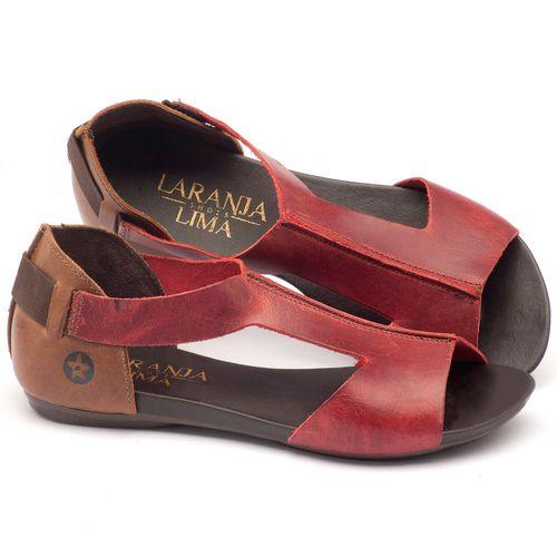 Laranja_Lima_Shoes_Sapatos_Femininos_Sandalia_Rasteira_Flat_em_Couro_vermelho_-_Codigo_-_137026_1