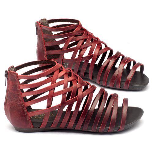 Laranja_Lima_Shoes_Sapatos_Femininos_Sandalia_Rasteira_Flat_em_Couro_Vermelho_-_Codigo_-_137027_1