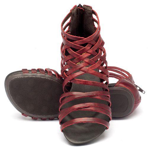 Laranja_Lima_Shoes_Sapatos_Femininos_Sandalia_Rasteira_Flat_em_Couro_Vermelho_-_Codigo_-_137027_2