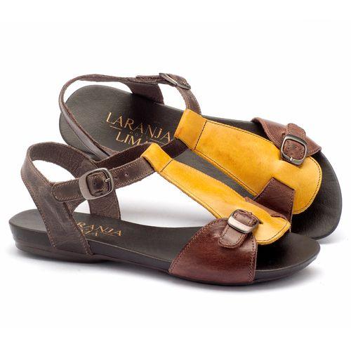 Laranja_Lima_Shoes_Sapatos_Femininos_Sandalia_Rasteira_Flat_em_Couro_Amarelo_-_Codigo_-_137047_1