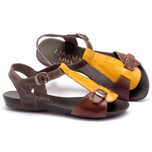Laranja_Lima_Shoes_Sapatos_Femininos_Sandalia_Rasteira_Flat_em_Couro_Amarelo_-_Codigo_-_137047_2