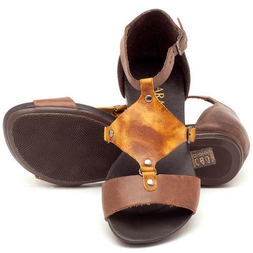 Laranja_Lima_Shoes_Sapatos_Femininos_Sandalia_Rasteira_Flat_em_Couro_Multicolor_-_Codigo_-_137053_2