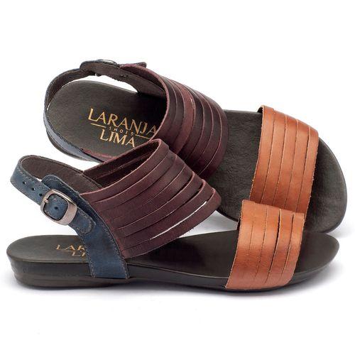 Laranja_Lima_Shoes_Sapatos_Femininos_Sandalia_Rasteira_Flat_em_Couro_Multicolor_-_Codigo_-_137054_1