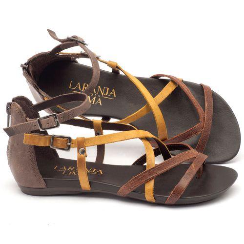Laranja_Lima_Shoes_Sapatos_Femininos_Sandalia_Rasteira_Flat_em_Couro_Multicolor_-_Codigo_-_137059_1