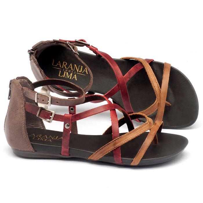 Laranja_Lima_Shoes_Sapatos_Femininos_Sandalia_Rasteira_Flat_em_Couro_Marrom_-_Codigo_-_137059_1