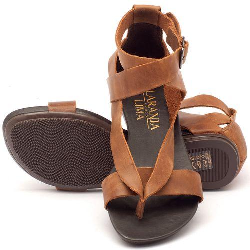Laranja_Lima_Shoes_Sapatos_Femininos_Sandalia_Rasteira_Flat_em_Couro_Caramelo_-_Codigo_-_137070_2