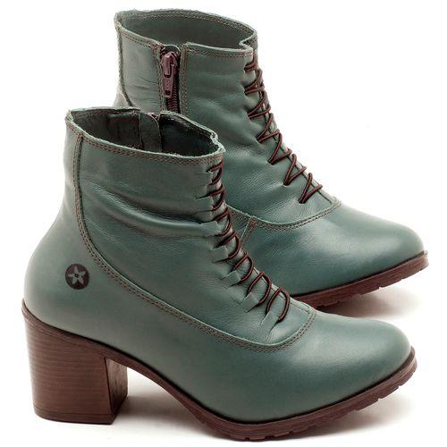 Laranja_Lima_Shoes_Sapatos_Femininos_Bota_Cano_Curto_Salto_de_6_cm_em_Couro_Verde_-_Codigo_-_137101_1