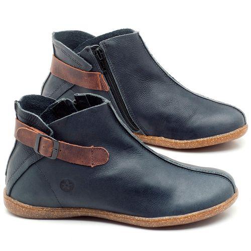 Laranja_Lima_Shoes_Sapatos_Femininos_Flat_Boot_em_Couro_Azul_-_Codigo_-_137144_1