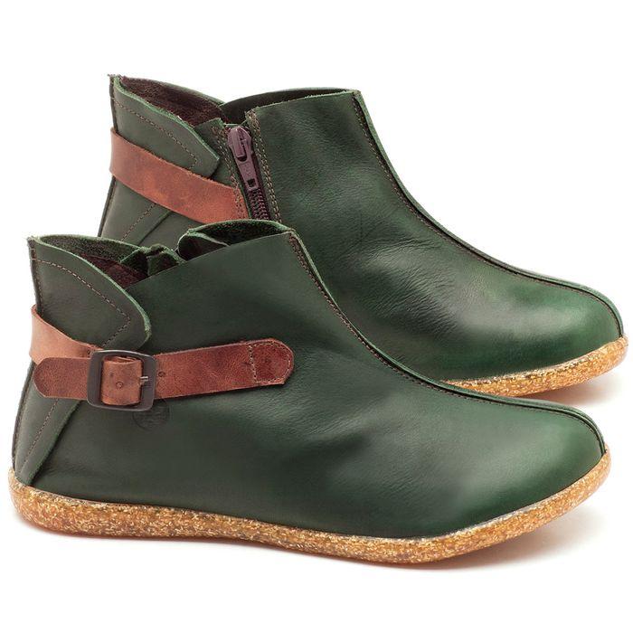 Laranja_Lima_Shoes_Sapatos_Femininos_Flat_Boot_em_Couro_Verde_-_Codigo_-_137144_1