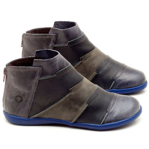 Laranja_Lima_Shoes_Sapatos_Femininos_Flat_Boot_em_Couro_azul_-_Codigo_-_137145_1