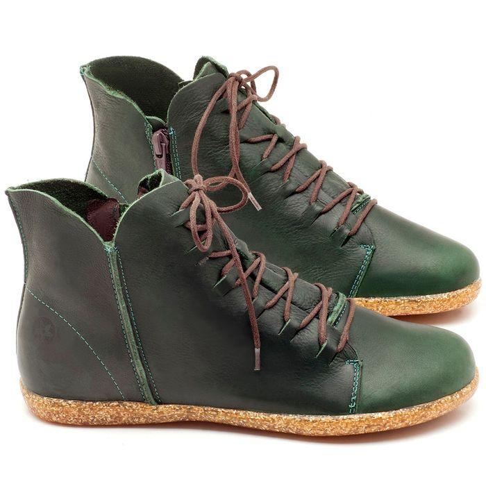 Laranja_Lima_Shoes_Sapatos_Femininos_Tenis_Cano_Alto_em_Couro_Verde_-_Codigo_-_137149_1