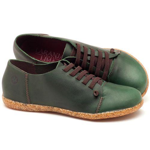 Laranja_Lima_Shoes_Sapatos_Femininos_Tenis_Cano_Baixo_em_Couro_Verde_-_Codigo_-_137150_1