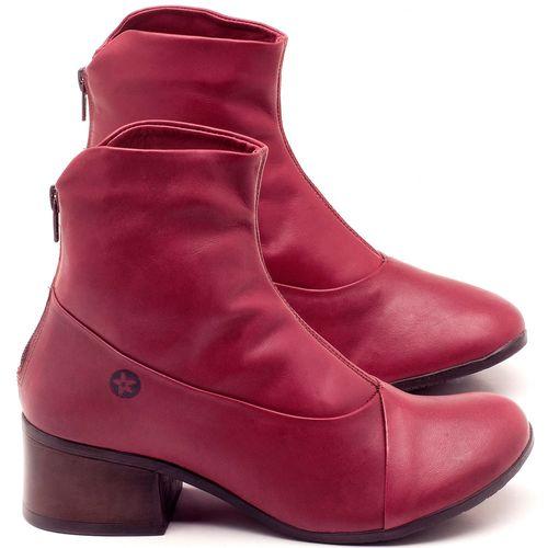 Laranja_Lima_Shoes_Sapatos_Femininos_Bota_Cano_Curto_Salto_de_5_cm_em_Couro_Vinho_-_Codigo_-_137161_1