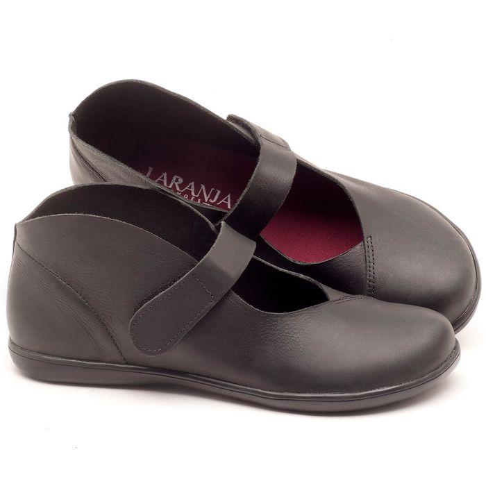 Laranja_Lima_Shoes_Sapatos_Femininos_Flat_Shoes_em_Couro_Preto_-_Codigo_-_137168_1