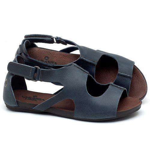 Laranja_Lima_Shoes_Sapatos_Femininos_Sandalia_Rasteira_Flat_em_Couro_Azul_-_Codigo_-_137174_1