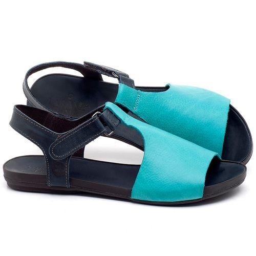 Laranja_Lima_Shoes_Sapatos_Femininos_Sandalia_Rasteira_Flat_em_Couro_Azul_-_Codigo_-_137177_1