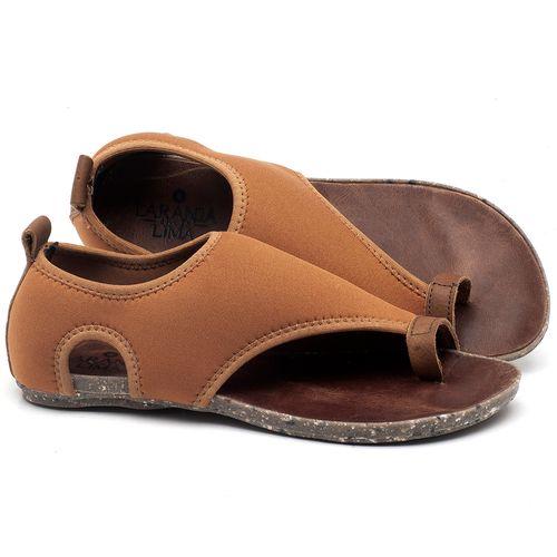 Laranja_Lima_Shoes_Sapatos_Femininos_Sandalia_Rasteira_Flat_em_Textil_Caramelo_-_Codigo_-_137179_1