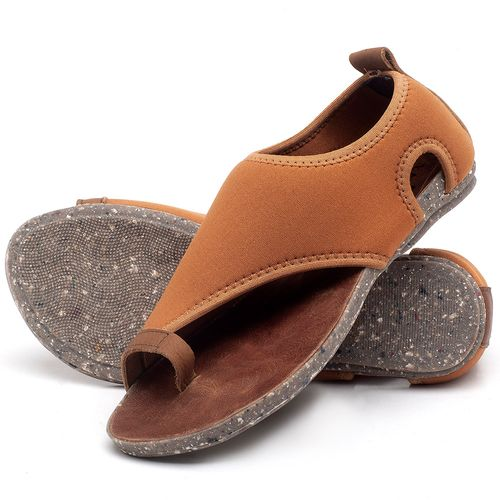 Laranja_Lima_Shoes_Sapatos_Femininos_Sandalia_Rasteira_Flat_em_Textil_Caramelo_-_Codigo_-_137179_2