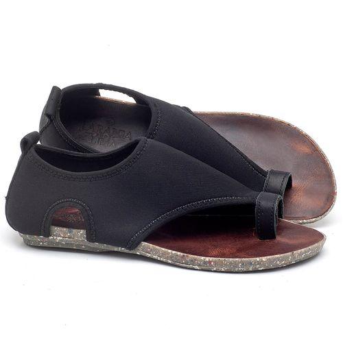 Laranja_Lima_Shoes_Sapatos_Femininos_Sandalia_Rasteira_Flat_em_Textil_Preto_-_Codigo_-_137179_1