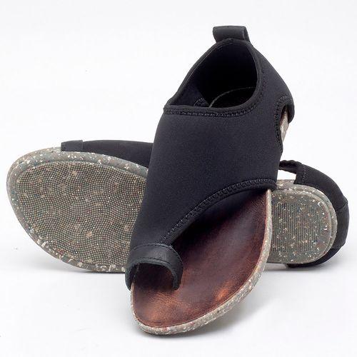 Laranja_Lima_Shoes_Sapatos_Femininos_Sandalia_Rasteira_Flat_em_Textil_Preto_-_Codigo_-_137179_2