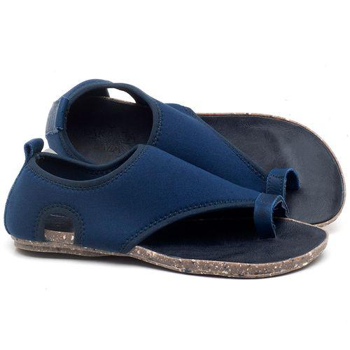 Laranja_Lima_Shoes_Sapatos_Femininos_Sandalia_Rasteira_Flat_em_Textil_Azul_-_Codigo_-_137179_1
