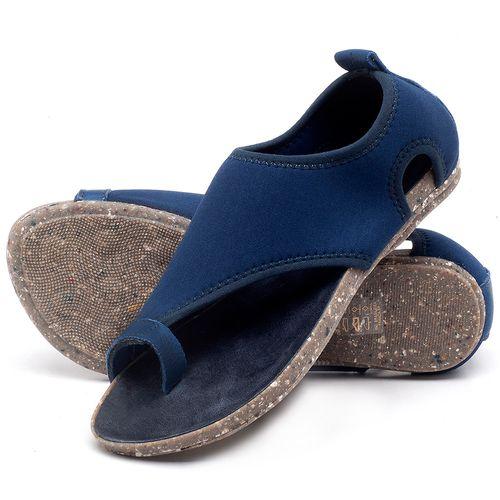 Laranja_Lima_Shoes_Sapatos_Femininos_Sandalia_Rasteira_Flat_em_Textil_Azul_-_Codigo_-_137179_2