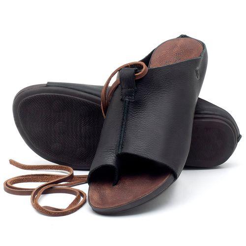 Laranja_Lima_Shoes_Sapatos_Femininos_Sandalia_Rasteira_Flat_em_Couro_Preto_-_Codigo_-_137180_2