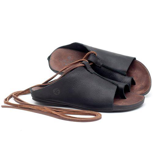 Laranja_Lima_Shoes_Sapatos_Femininos_Sandalia_Rasteira_Flat_em_Couro_Preto_-_Codigo_-_137180_1