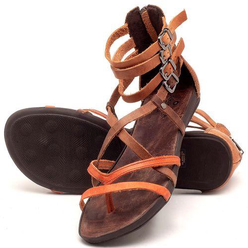 Laranja_Lima_Shoes_Sapatos_Femininos_Sandalia_Rasteira_Flat_em_Couro_Bicolor_-_Codigo_-_137182_2