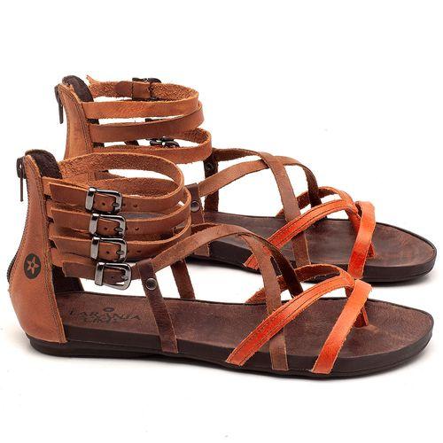 Laranja_Lima_Shoes_Sapatos_Femininos_Sandalia_Rasteira_Flat_em_Couro_Bicolor_-_Codigo_-_137182_1