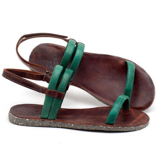 Laranja_Lima_Shoes_Sapatos_Femininos_Sandalia_Rasteira_Flat_em_Couro_Verde_-_Codigo_-_137198_1