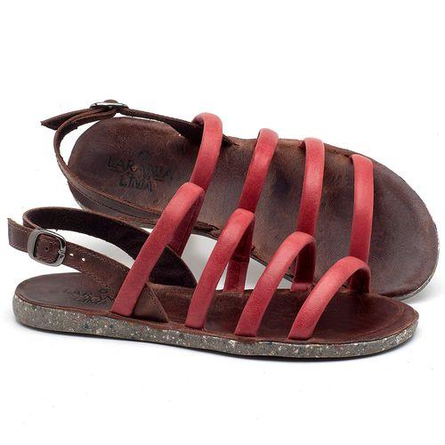 Laranja_Lima_Shoes_Sapatos_Femininos_Sandalia_Rasteira_Flat_em_Couro_Vermelho_-_Codigo_-_137199_1