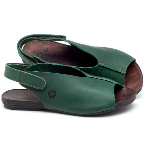 Laranja_Lima_Shoes_Sapatos_Femininos_Sandalia_Rasteira_Flat_em_Couro_Verde_-_Codigo_-_137205_1