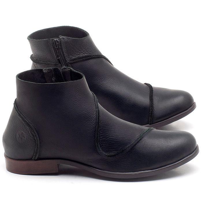Laranja_Lima_Shoes_Sapatos_Femininos_Bota_Cano_Curto_em_Couro_Preto_-_Codigo_-_137232_1