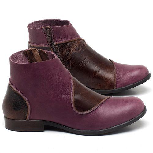 Laranja_Lima_Shoes_Sapatos_Femininos_Bota_Cano_Curto_em_Couro_Vinho_-_Codigo_-_137232_1