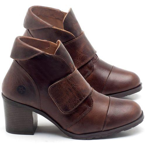 Laranja_Lima_Shoes_Sapatos_Femininos_Bota_Cano_Curto_Salto_de_6_cm_em_Couro_Marrom_-_Codigo_-_137239_1