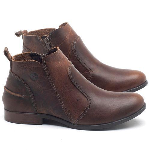 Laranja_Lima_Shoes_Sapatos_Femininos_Bota_Cano_Curto_em_Couro_Marrom_-_Codigo_-_137244_1