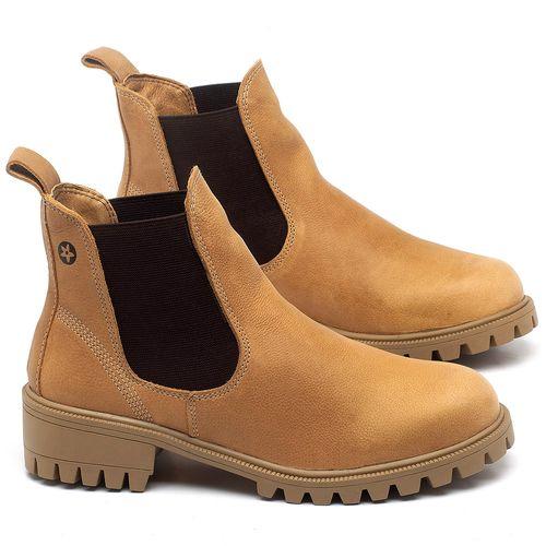 Laranja_Lima_Shoes_Sapatos_Femininos_Bota_Cano_Curto_em_Couro_Amarelo_-_Codigo_-_137265_1