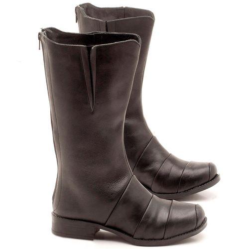 Laranja_Lima_Shoes_Sapatos_Femininos_Bota_Cano_Curto_Salto_de_2_cm_em_Couro_Preto_-_Codigo_-_141003_1
