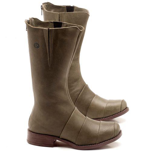 Laranja_Lima_Shoes_Sapatos_Femininos_Bota_Cano_Curto_Salto_de_2_cm_em_Couro_Musgo_-_Codigo_-_141003_1