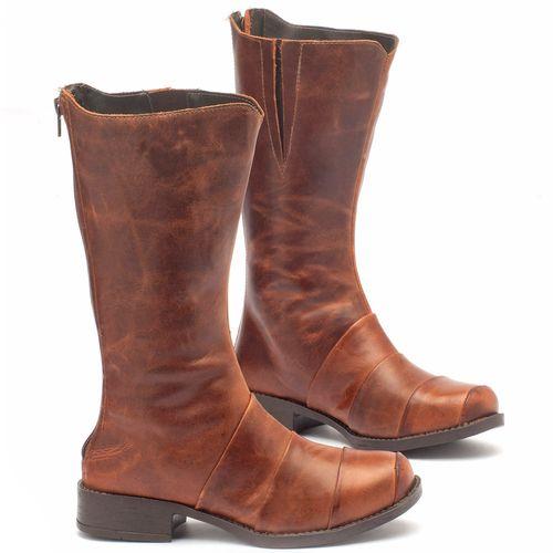 Laranja_Lima_Shoes_Sapatos_Femininos_Bota_Cano_Curto_Salto_de_2_cm_em_Couro_Marrom_-_Codigo_-_141003_1